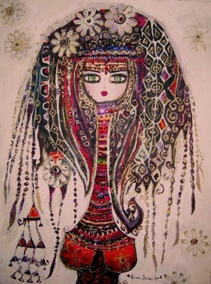 h a t t i s o u l: goddess in flowers by Canan Berber