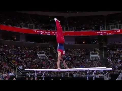 this guy really knows how to stick it   Danell Leyva 2012 USA Gymnastics Trials