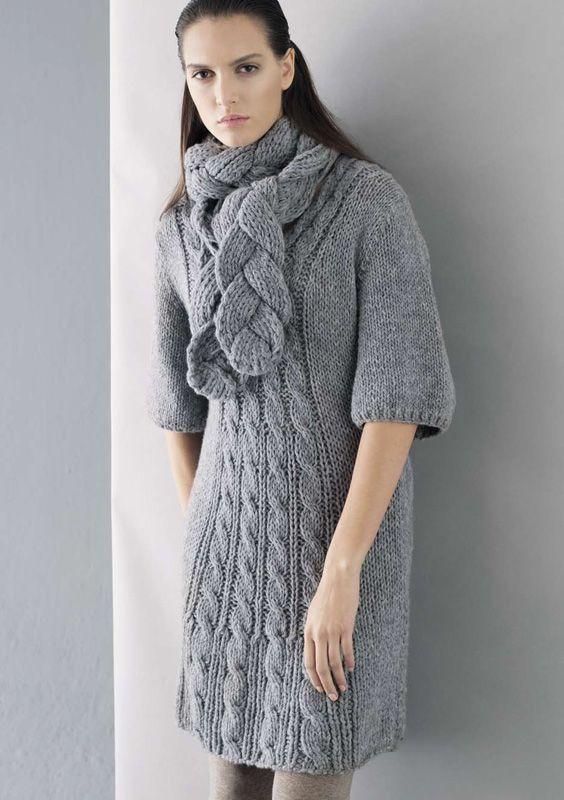 Lana Grossa Kleid ALTA MODA ALPACA | Kleid ALTA MODA ALPACA von Lana Grossa | Strickmodelle - Modell Pakete - im FILATI.cc WebShop mit Lana Grossa Produkten