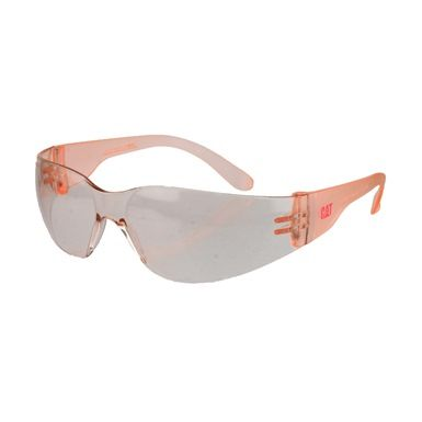 These CAT Jet Women's Protective Eyewear are certified to EN 166, with lenses that feature a 99% UV absorption rate. And they're Pink!