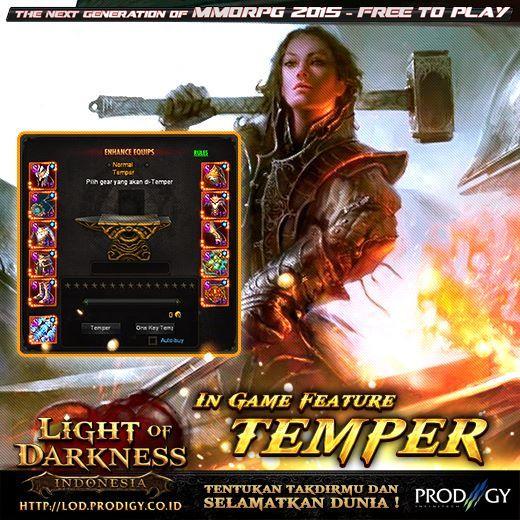 Light of Darkness Naikkan Battle Power di http://bit.ly/FPLightOfDarkness … dengan melakukan Temper equipment ! Baca info di: http://bit.ly/LOD-Temper