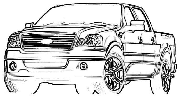 Ford f150 printable coloring pages ~ Ford F 150 Pickup Truck Coloring Pages