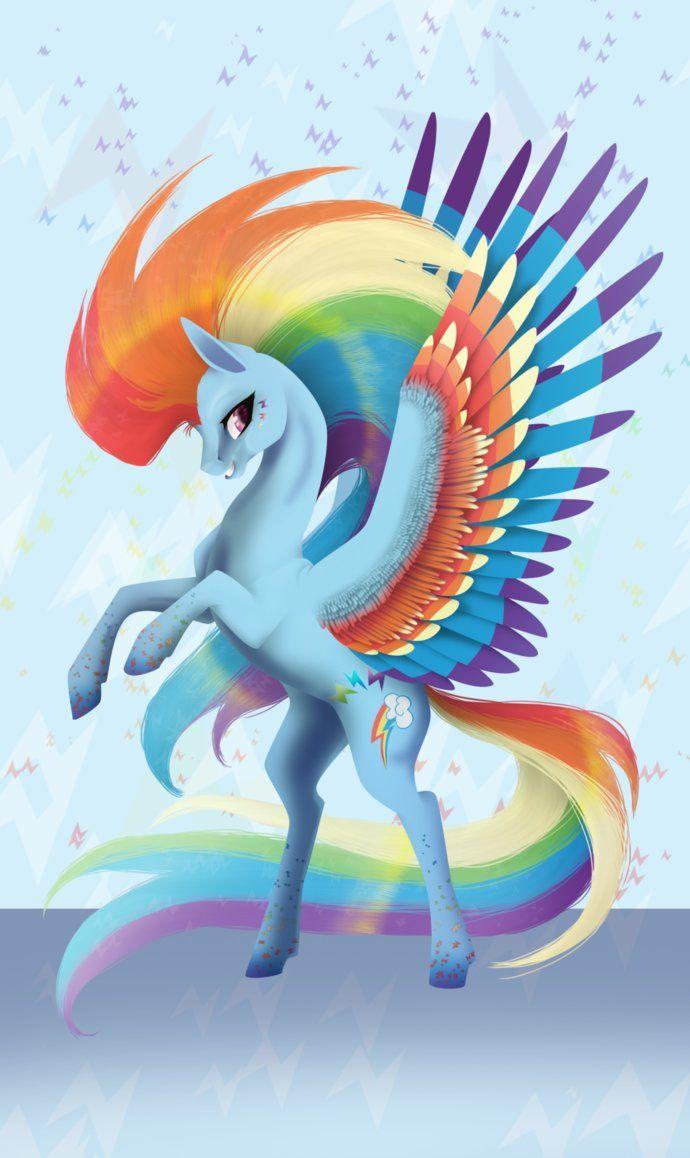 Mlp Rainbow Powered Rainbow Dash With Images Rainbow Dash My