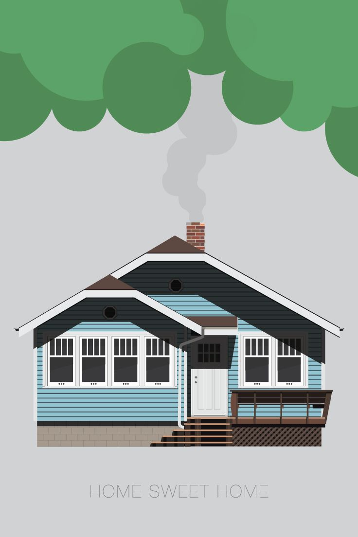 House Illustration - by LD