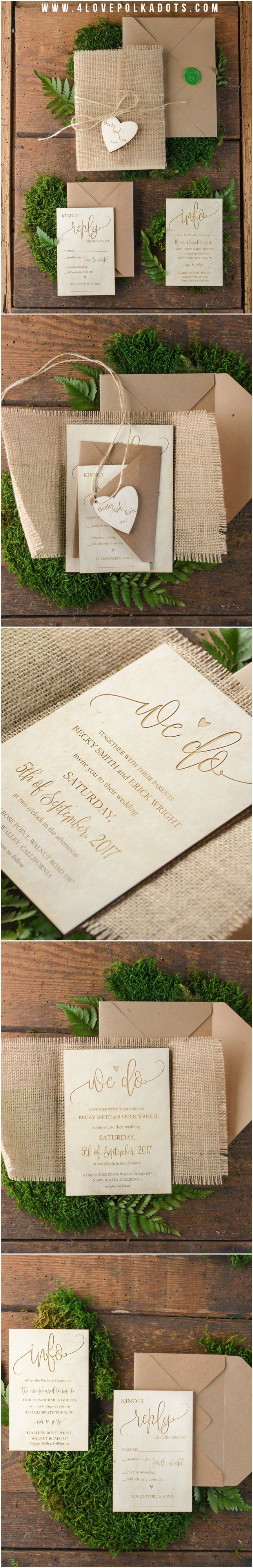 And these beautiful wedding invitations by
