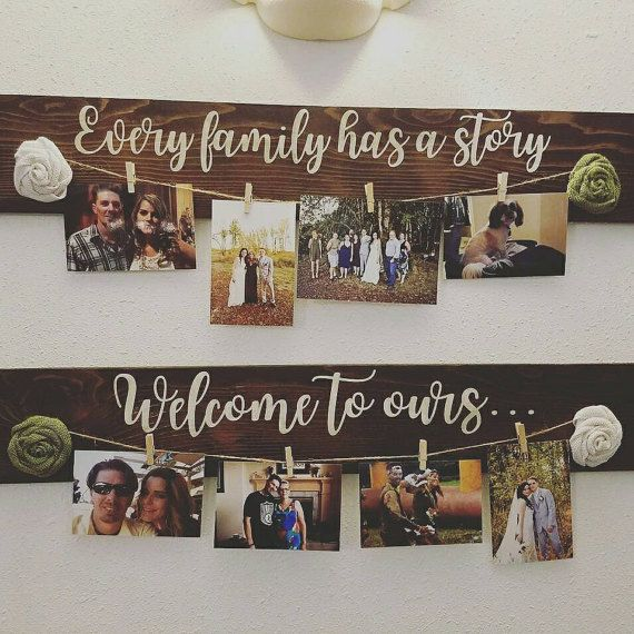 Custom Family Picture Hanger, Every Family has a Story, Welcome to Ours, Home Decor, Gallery Wall, Reclaimed Wood, Rustic Decor, Farmhouse