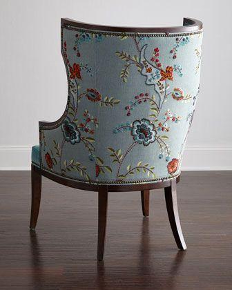 Massoud Cyrene Wing Chair