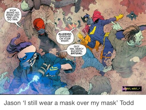 """More like """"I wear a gas mask over my helmet mask over my domino mask""""  Fall layering trends to look out for. MP"""