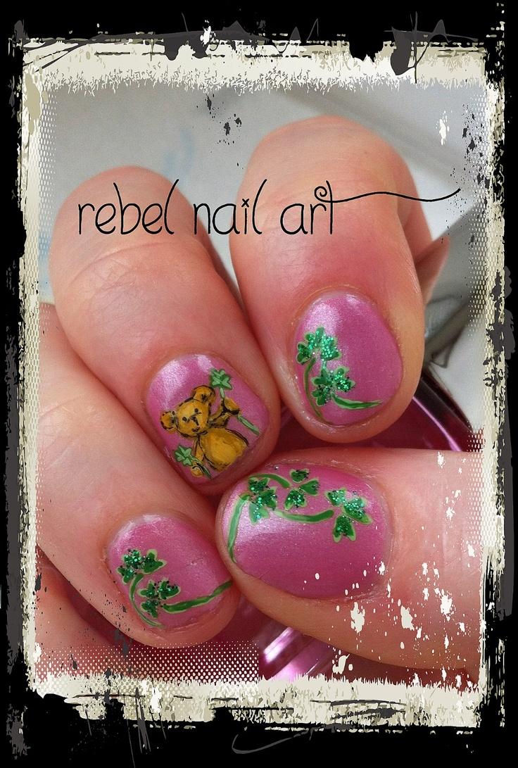 Pins check out www mynailpolishobsession com for more nail art ideas - St Patricks Day Nail Art