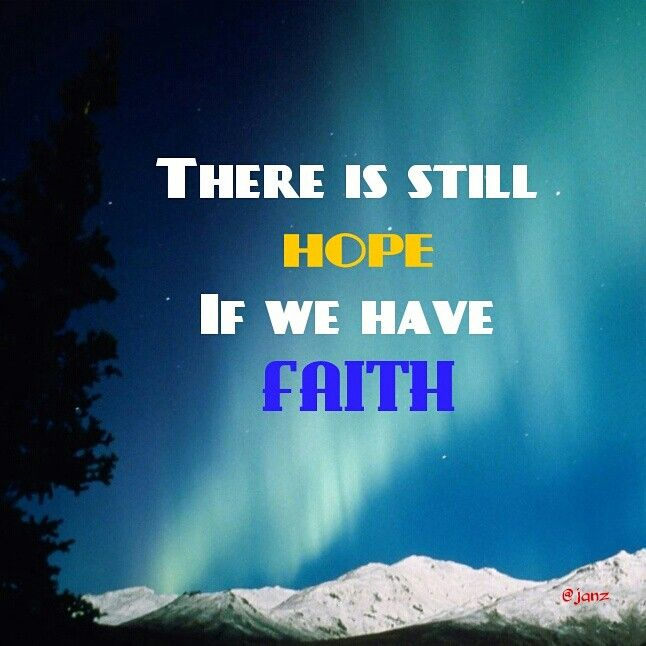 When everything is falling apart. Remember that there is still hope if we have faith.