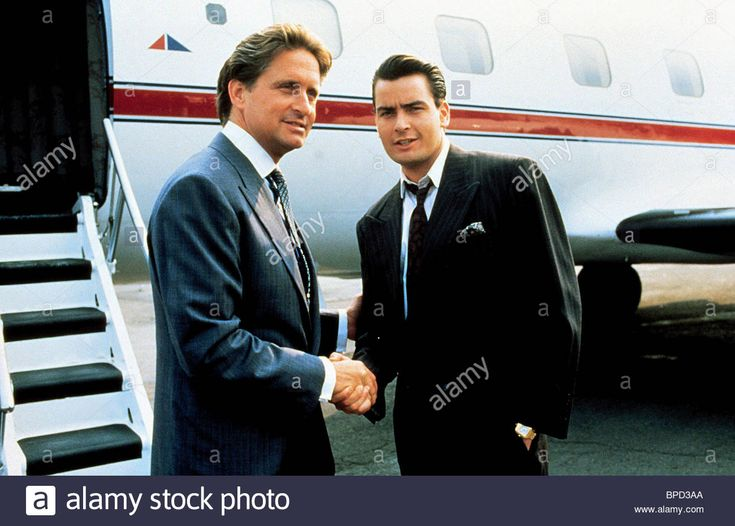Michael Douglas Charlie Sheen Wall Street (1987 Stock Photo, Royalty Free Image: 31020818 - Alamy