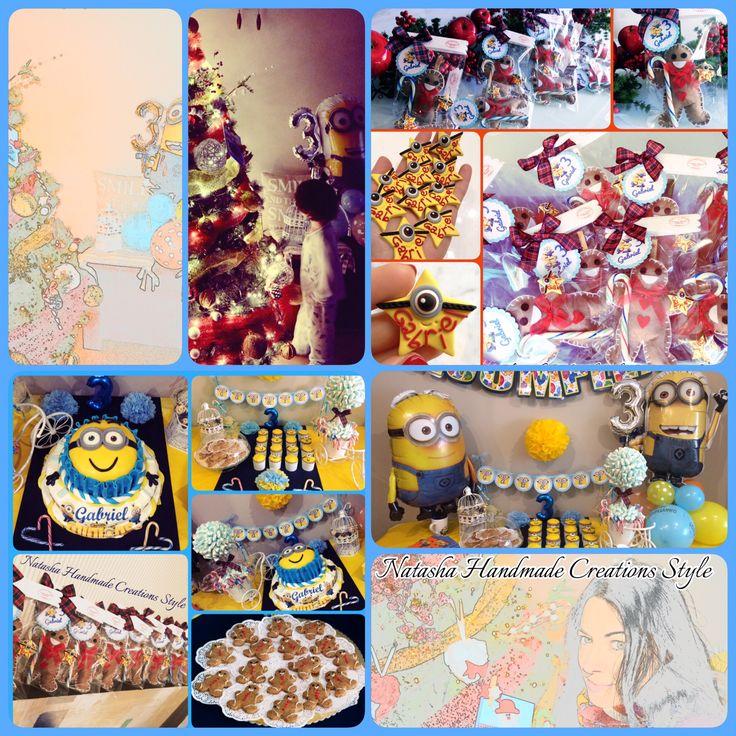 Un collage che vuole rappresentare il baby shower del mio bambino per il suo terzo compleanno tutto ideato e realizzato da Natasha Handmade Creations Style