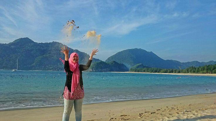 Pantai Lampuuk, Aceh, Sumatra, Indonesia.