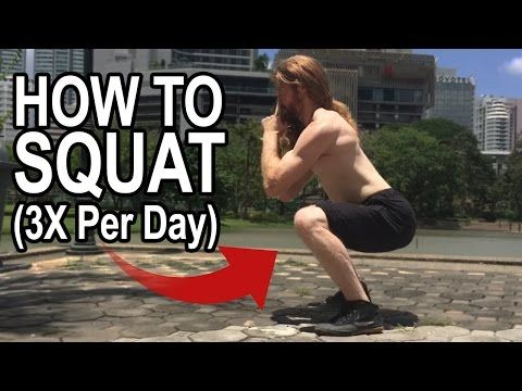 (1) How To Squat (Do This 3X A Day) Hip & Spine Alignment - YouTube