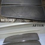 Our first 3D printed grill Before and after
