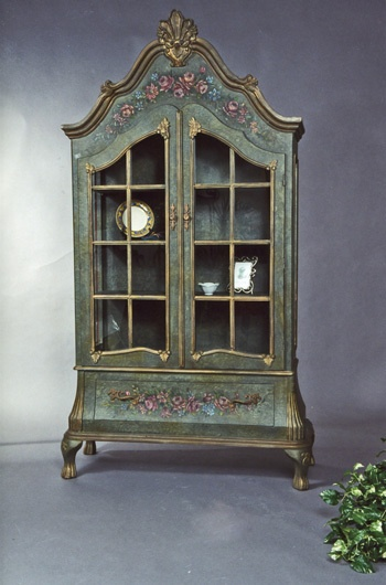 Enchanted Manor Pastel Green China Cabinet From Victorian Trading Co Home Decor Furniture