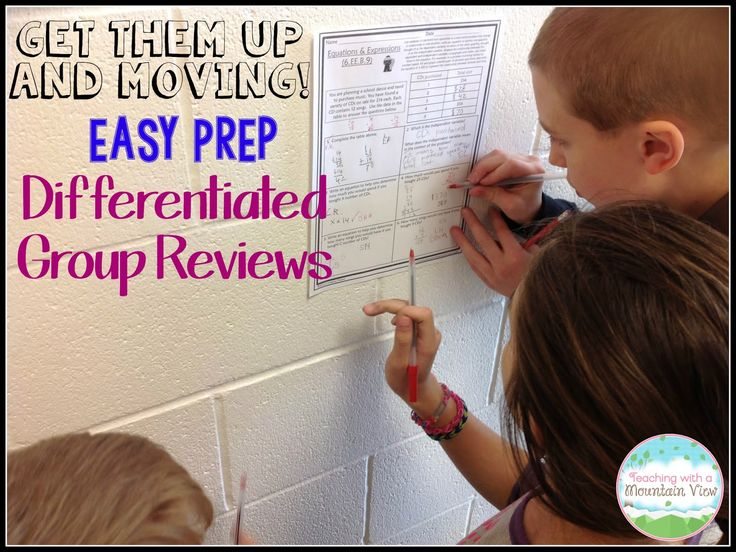 A Quick and Easy {Differentiated} Review Activity that you can do with any printables or task cards you have on hand!