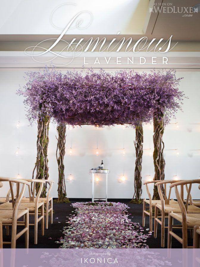 #dragonwood and #purplefloral #chuppah as seen @WedLuxe #Wedding magazine