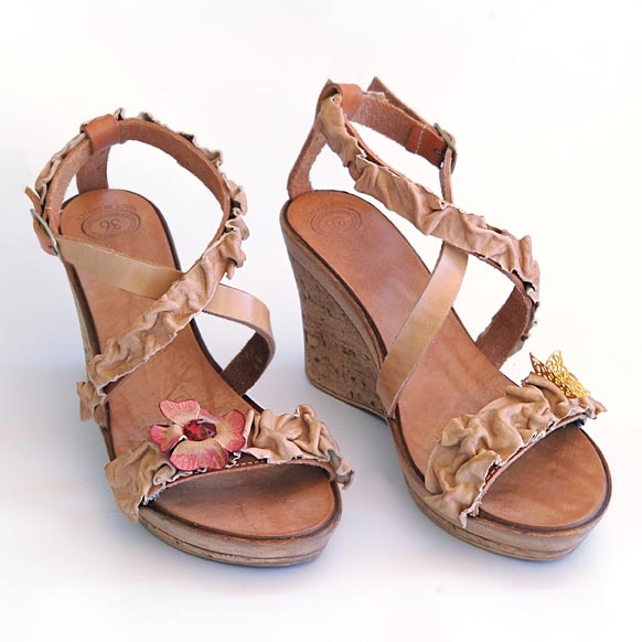 [Dart creations] leather platform sandals