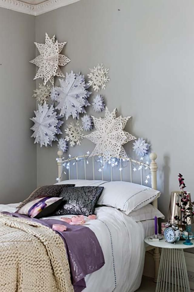 17 Magical Paper Snowflake Craft Projects. 25  unique Winter bedroom decor ideas on Pinterest   Winter