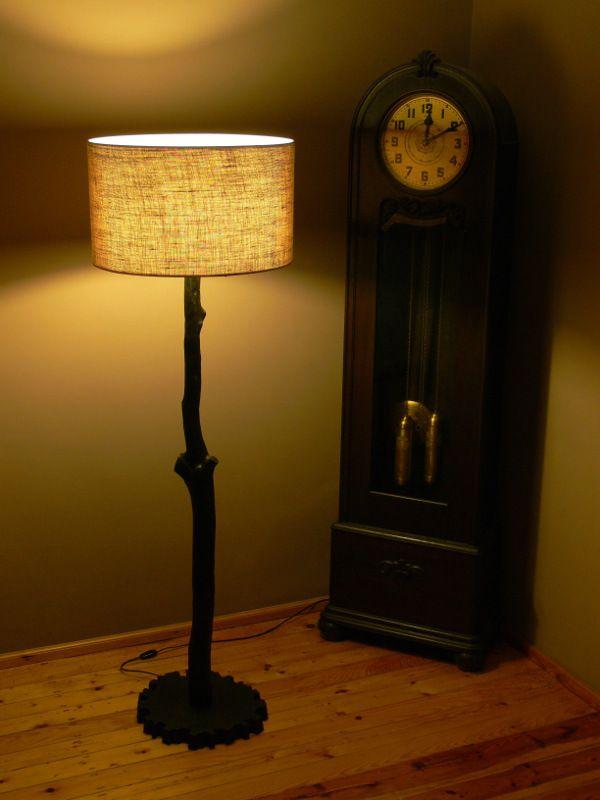 LAMPA [XXXVI] - WOODEN FLOOR LAMP - NATURE - NATURAL - BRANCH