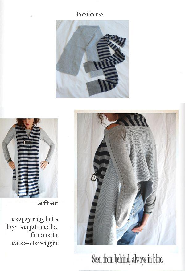 bufandas convertidas en sweater