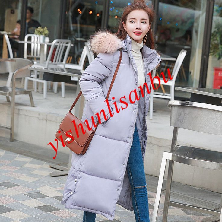 Full Length Down Coats Womens Winter Hooded Plus Size Jackets Outwear Overcoats
