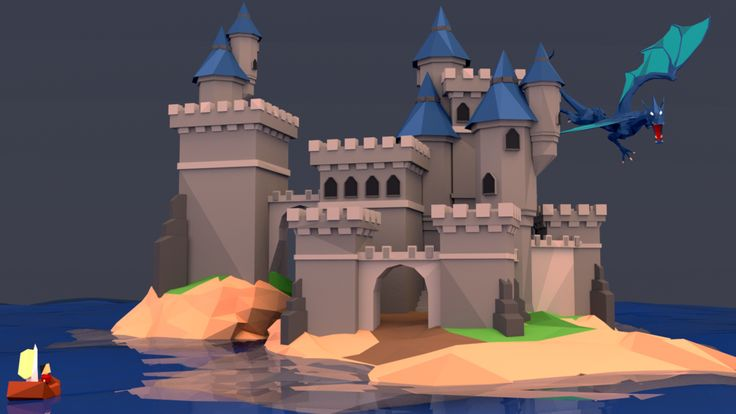 Low Poly Castle - Front View by Dustinnb on DeviantArt