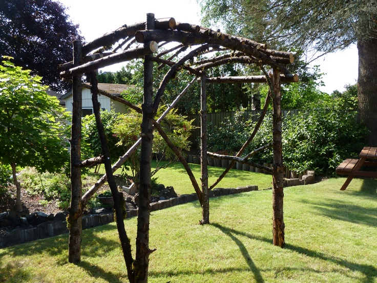 how to build an arbour out of branches