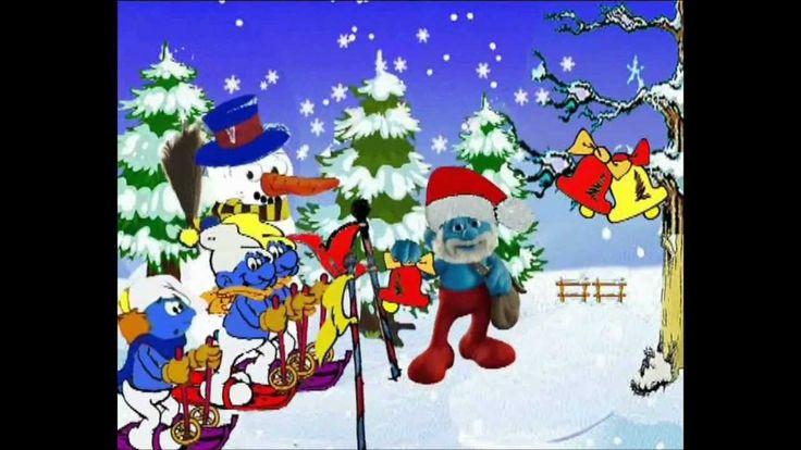 Zima, Šmoulové, písničky Zvon zní cingiling Vánoce, Zimní písně, říkanky, sníh, sníh písně, Sněhulák písně, stavba sněhuláka, lyžování, Zimní sporty, Šmoula,...