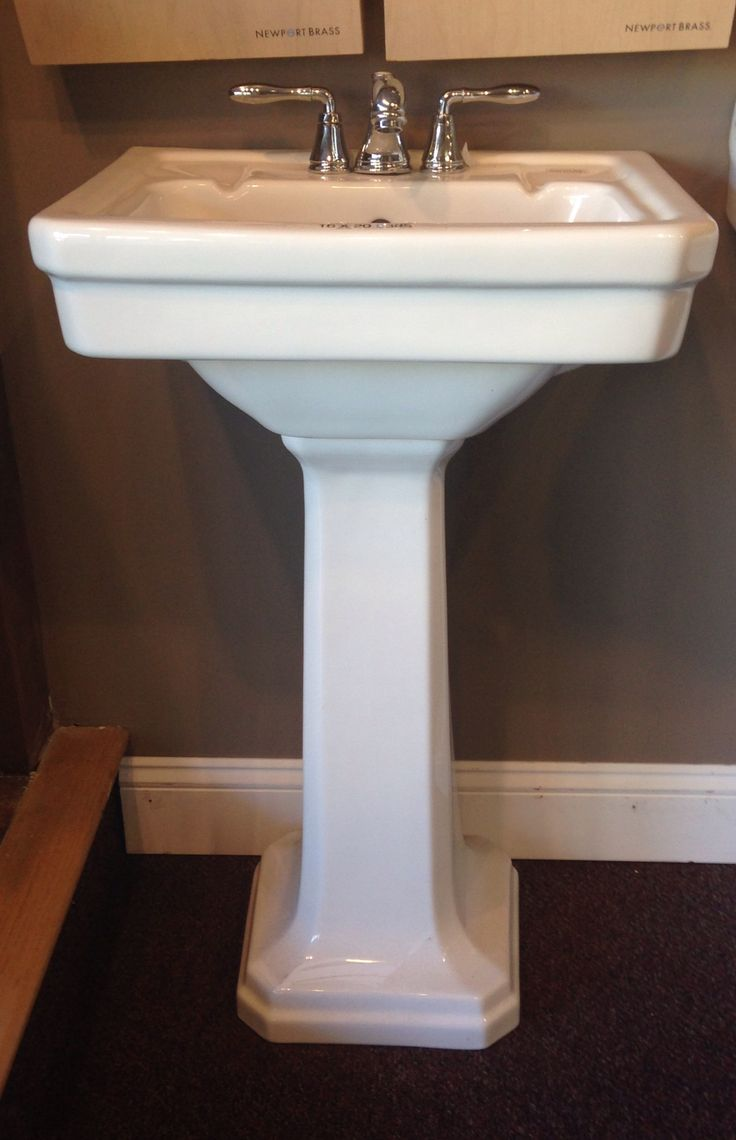 Small Pedestal Sink At Bath Connections Powder Room