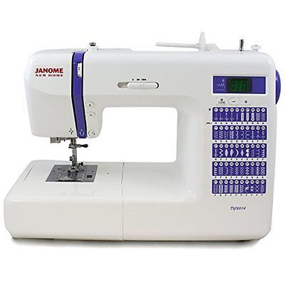 Рriсе - $768.79. Sewing Machines Janome DC2014 Computerized Sewing Machine With Built-In Stitches ( Brand - Janome, Model Number - 001DC2014, MPN - 001DC2014, UPC - 732212306020, Color - Purple, Category - Sewing Machines, EAN - 0732212306020    )