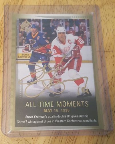 Ice Hockey Cards 216: 15-16 Sp Authentic Steve Yzerman All-Time Moments Autograph Auto Group A 1:44626 -> BUY IT NOW ONLY: $399 on eBay!