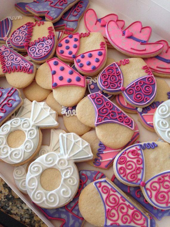 Bachelorette or Lingerie Shower cookies 1 Dozen by AnnPotterBaking