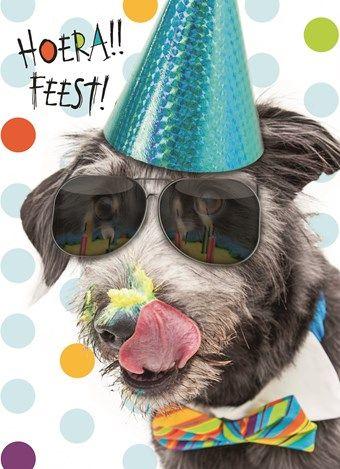 Yeah, feest! #Hallmark #HallmarkNL #happybirthday #birthday #verjaardag #jarig #verjaardagskaart #jongen #hond #dog #party