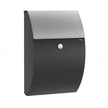 Type 7000 brievenbus Allux zwart/RVS briefklep | Musthaves verzendt gratis