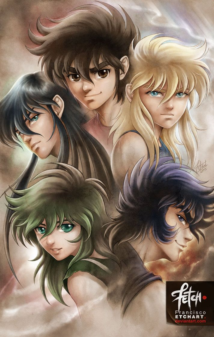New illustrations for a cards game that I did for Universo Retro about Saint Seiya. Rights reserved to Masami Kurumada. Art done by Franciscoetchart.deviantart