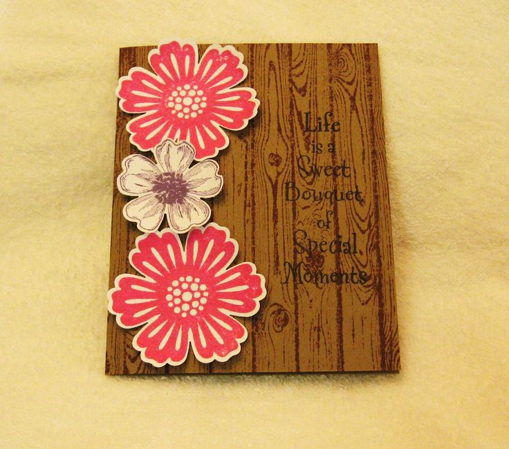Stampin Up! Mixed Bunch & Flower Shop stamp & punch