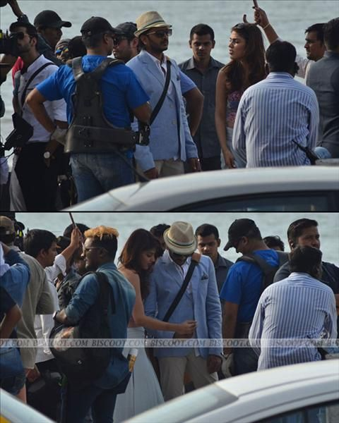 """Clicked : Riteish And Rhea On The Sets Of """"Bank Chor"""""""