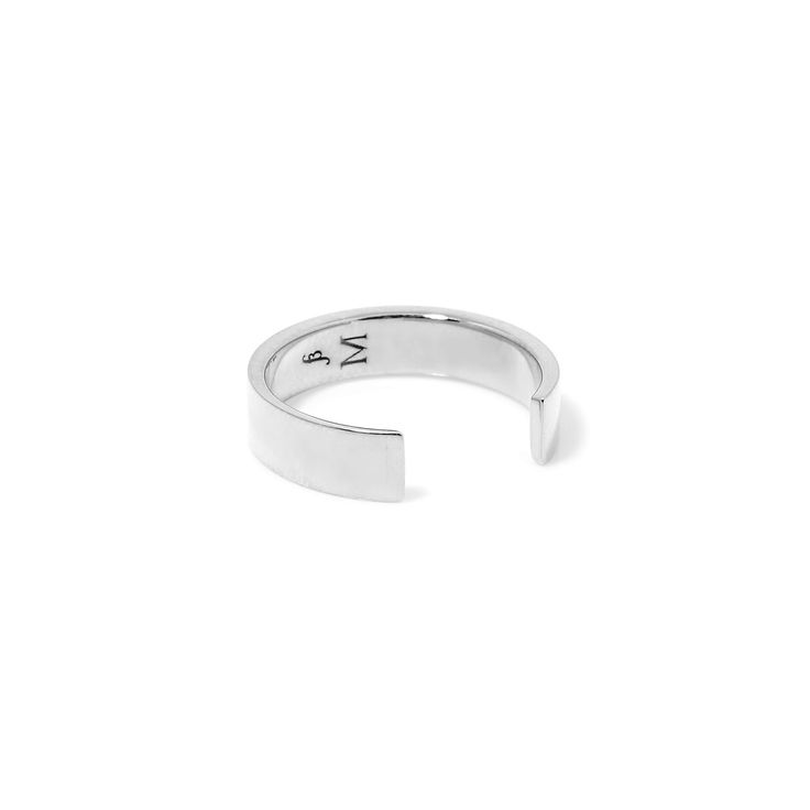 The Chamfer Ring by SARAH & SEBASTIAN is a band-style ring created in ether silver or oxidised silver featuring open detailing. Nickel free.