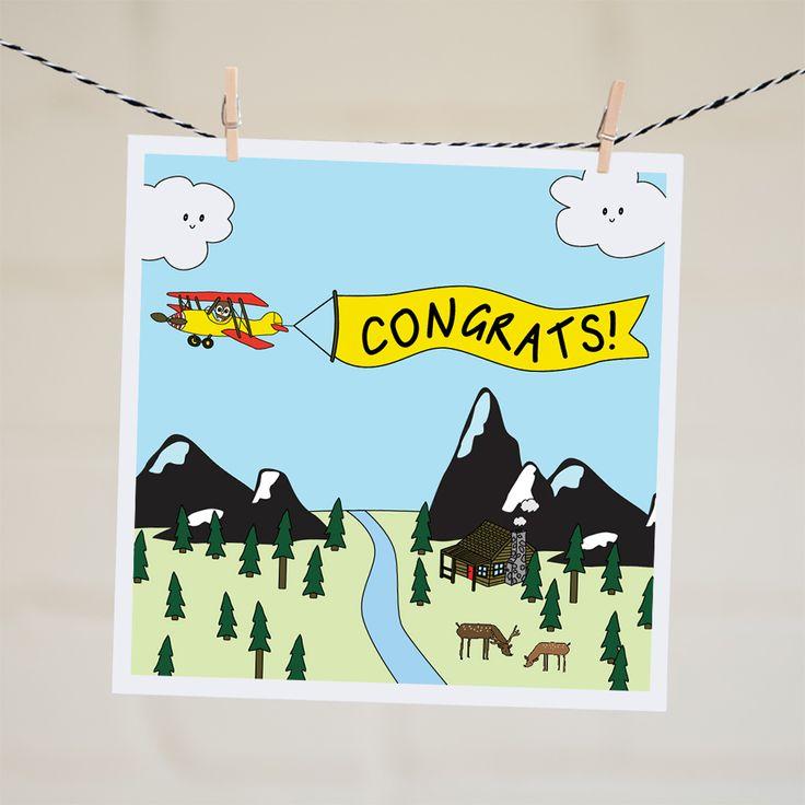 Congrats Plane Banner Card | Relove SA