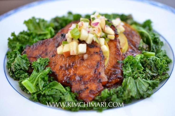 Apple Pork Bulgogi with Kale and Apple Salsa