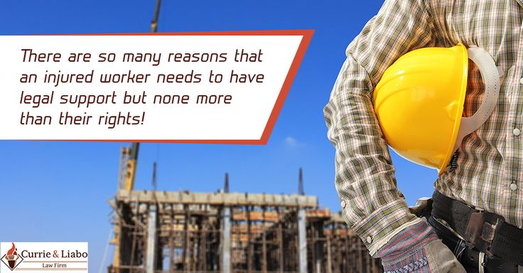 There are so many reasons that an injured worker needs to have legal support but none more than their rights! http://www.currieliabolaw.com/practice-areas/personal-injury-and-workers-compensation/