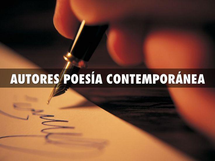 Presentación creada con Haiku Deck en la que se muestran los diferesntes autores de poesía de la Literatura Contemporánea.