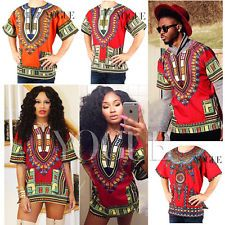 Üniseks Dashiki Erkek Kadınlar Afrikalı Tişörtler En Popüler Geleneksel Kabile Etnik Elbiseleri