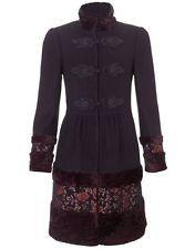Monsoon babushka russian princess brocade bordure en fourrure steampunk manteau 10