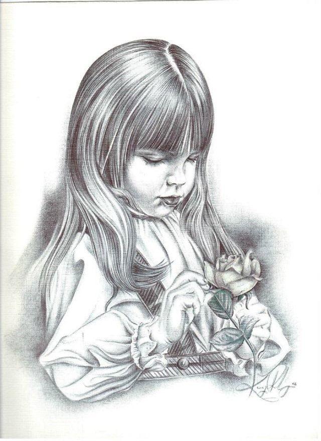 Kenneth Lee Flannery ballpoint pen art.