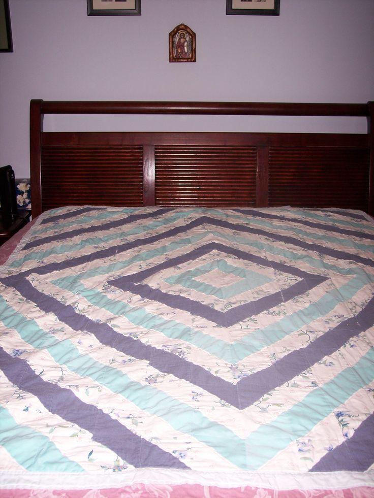 A scrap quilt I designed, the second one I made.