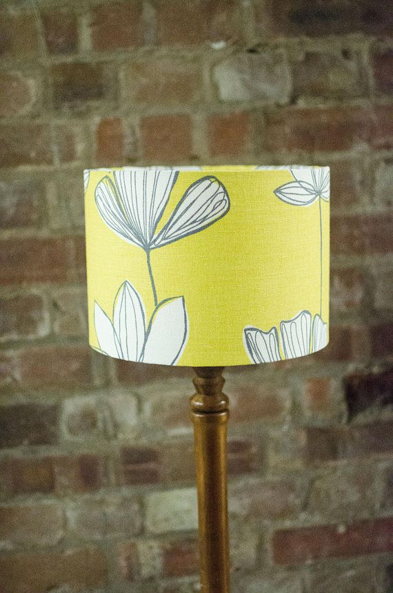 Yellow Lamp Living Room Lamp Retro Lampshade Retro Floral Floral Lampshade Yellow Living Room Yellow L Floral Lampshade Lamps Living Room Retro Lampshade