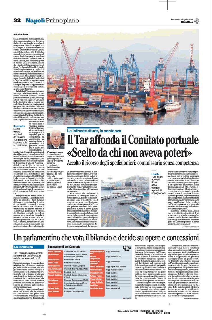 Il Tar affonda il Comitato portuale di Napoli: Dassati non aveva poteri di nomina